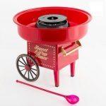 Rød candyfloss maskine